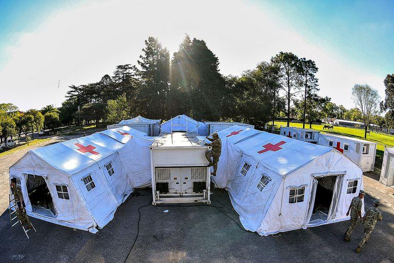 El hospital de campaña tiene capacidad para hacer diagnósticos y atender pacientes con equipamiento de alta complejidad