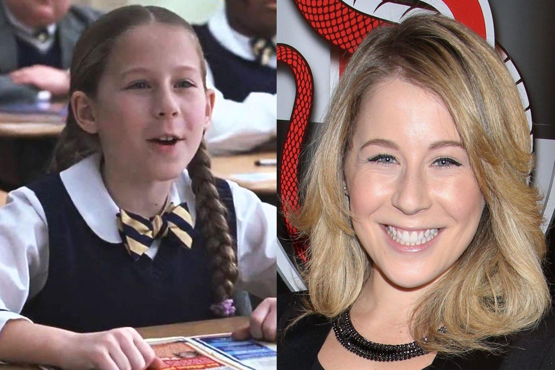 Caitlin Hale, en su personaje de Marta School of Rock y en la actualidad