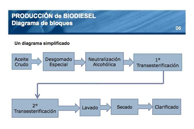 Esquema genera de producción de biodiesel