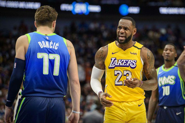 NBA: LeBron le ganó el duelo a Doncic y los Lakers vencieron a los Mavericks