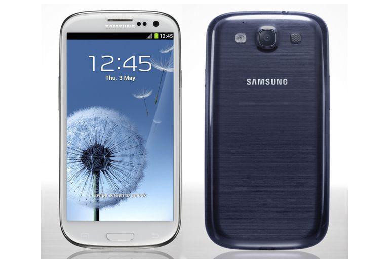 El Galaxy SIII vendrá en color blanco y en azul oscuro