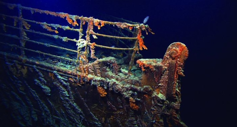 Las bacterias del lecho oceánico consumen los restos del naufragio más famoso. Crédito: OceanGate.
