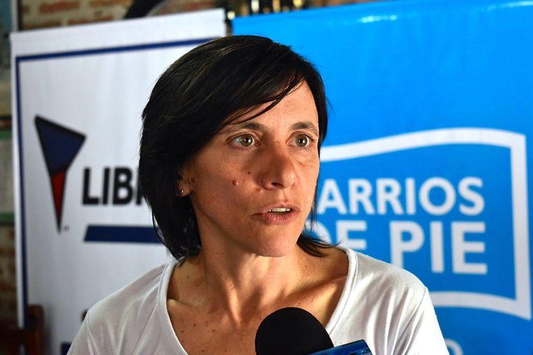 Silvia Saravia, dirigente de Barrios de Pie-Libres del Sur, la facción que se separo de Menéndez cuando se alió al kirchnerismo