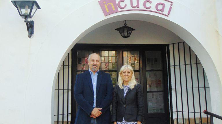 Augusto Vallejos y María del Carmen Bacqué, autoridades del Incucai
