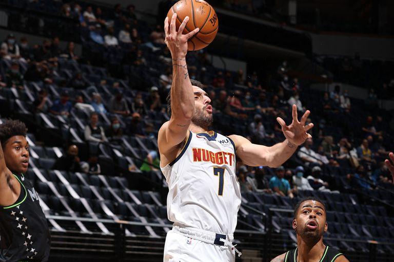 Facundo Campazzo sigue peleado con el aro a larga distancia; 0 de 3 en triples vs. Minnesota Timberwolves en el triunfo de Denver Nuggets por 114 a 103 en la NBA.