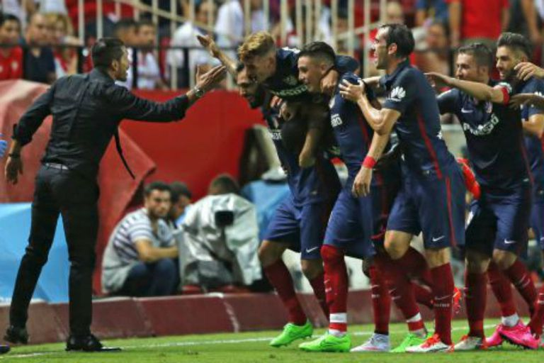 Atlético veció por 3-0 a Sevilla de visitante