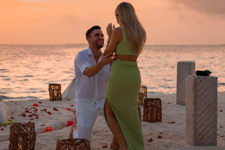 La romántica propuesta de casamiento de Nicolás Tagliafico a Caro Calvagni