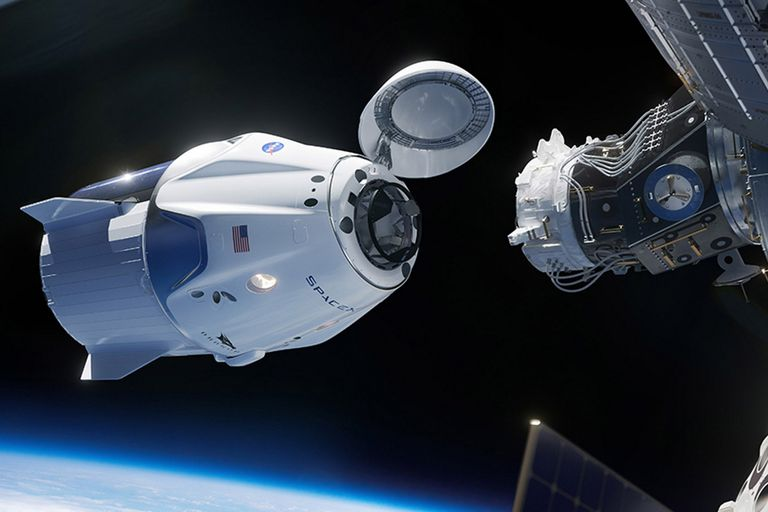 Crew Dragon: mirá en vivo el acople de la nave con la Estación Espacial