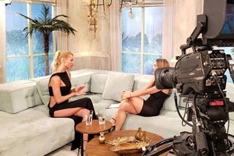 Nicole Neumann entrevistada por María Vázquez en el ciclo Pampita Online