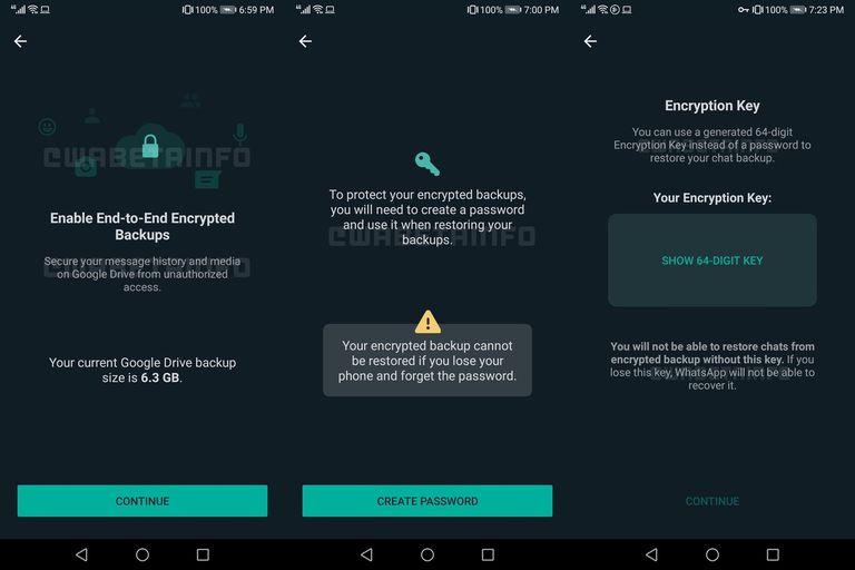 WhatsApp permitirá ponerle contraseña a las copias de seguridad de los chats que almacena en sus servidores