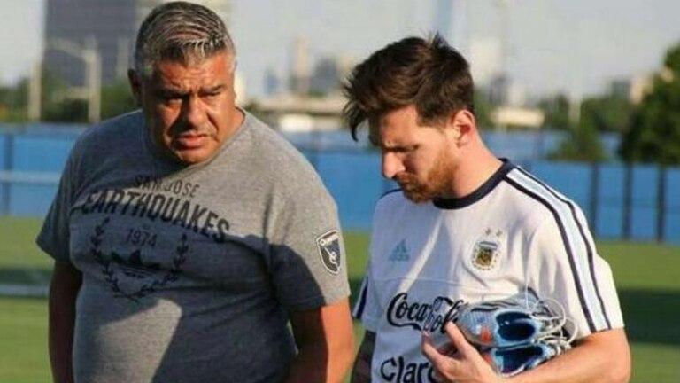 Messi y Chiqui Tapia