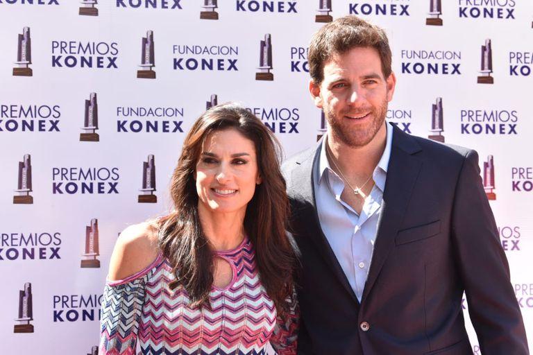 Gabriela Sabatini y Juan Martín Del Potro, en la entrega de los Premios Konex