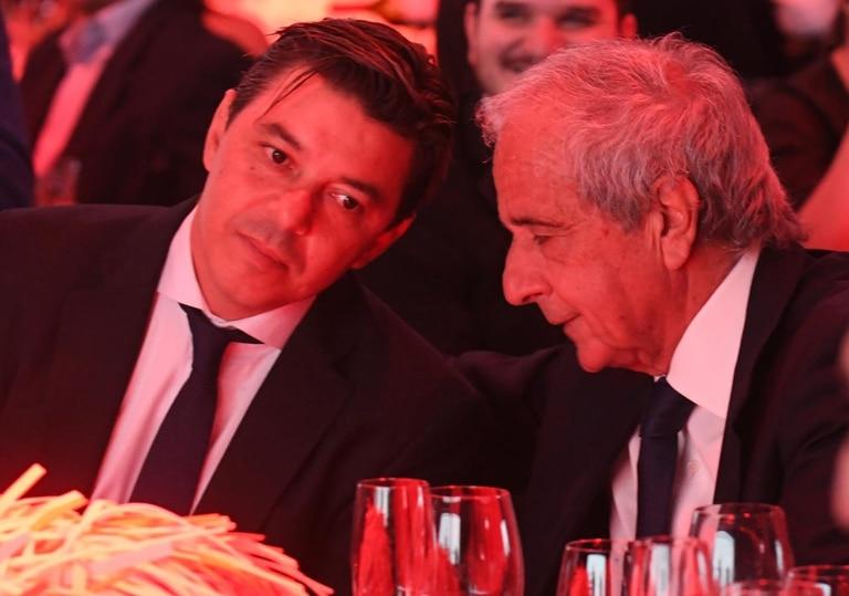 Gallardo y el presidente de River, Rodolfo D´Onofrio