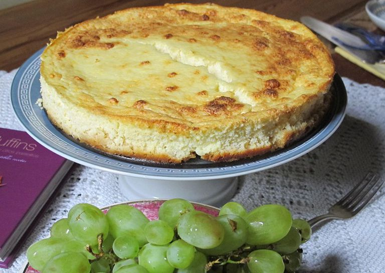Torta de ricota a la naranja sin harina