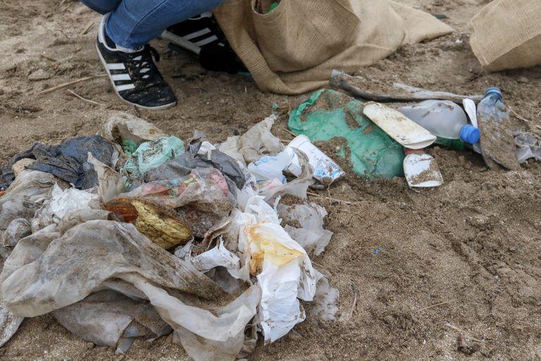 Residuos recolectados en la costa bonaerense durante un censo realizado por organizaciones socioambientales