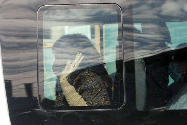 Cristina Kirchner llegó al acto acompañada por Axel Kicillof