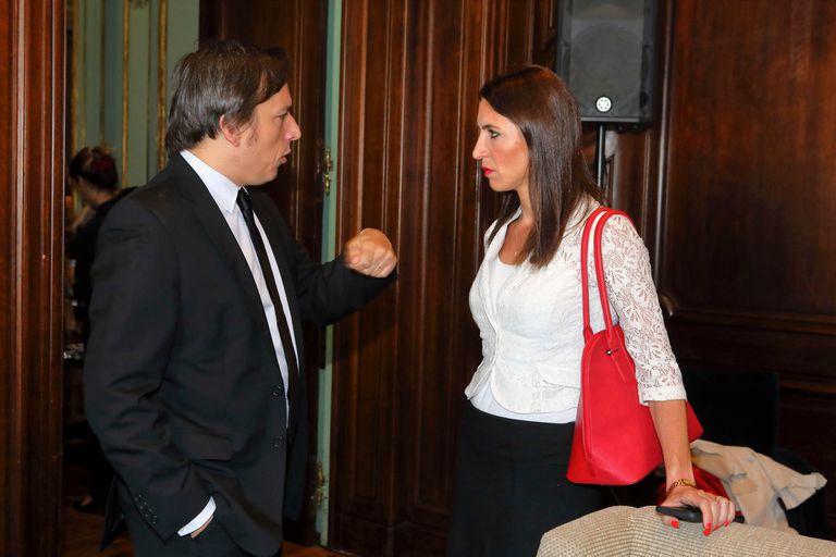 Jose del Rio conSalomé Di Iorio (Árbitra internacional de fútbol),