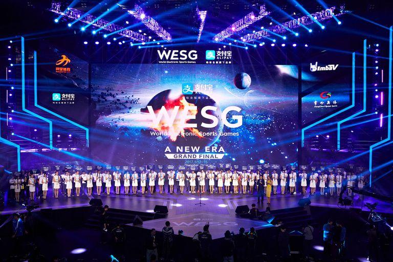 Una vista de la final del WESG en 2017, el torneo de eSports que se lleva a cabo en China, organizado por Alisports
