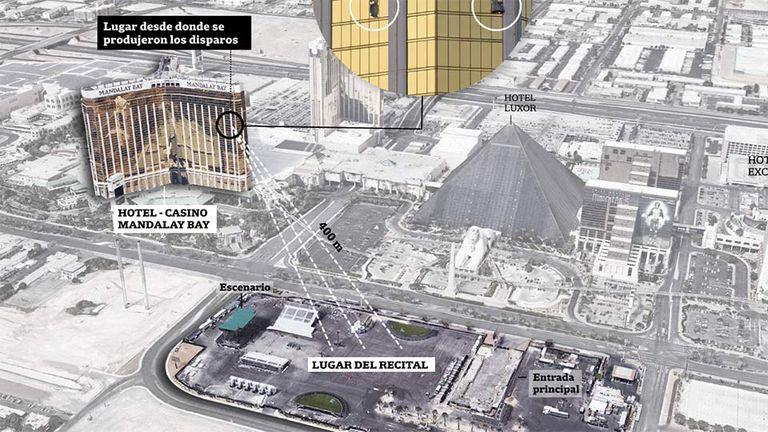 El detalle del ataque en Las Vegas