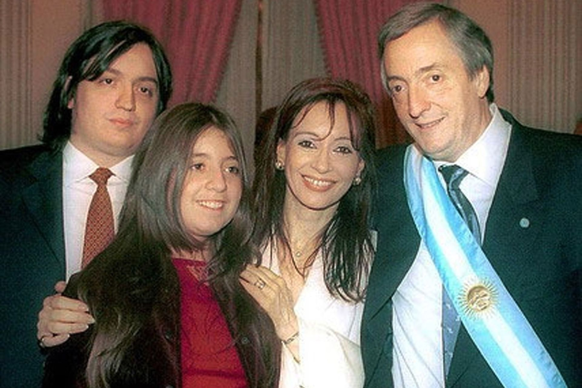 La familia unida, el día de la asunción de Néstor Kirchner, en 2003