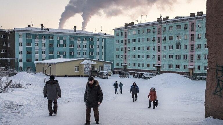 La temperatura invernal en Norilsk puede alcanzar, como el año pasado, los 62 grados bajo cero
