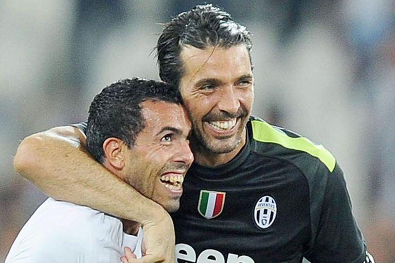 Buffon y Tevez fueron compañeros en Juventus y se hicieron muy amigos