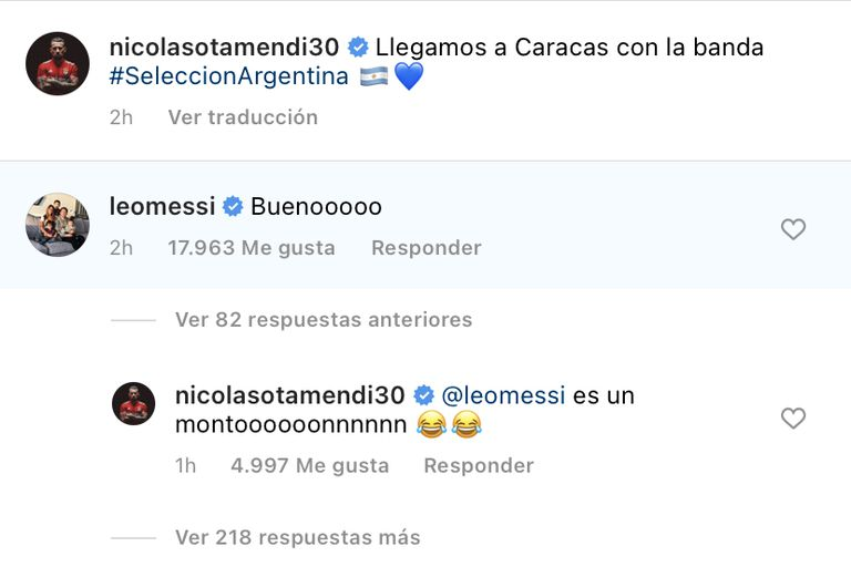 El comentario de Messi y la reacción de Otamendi