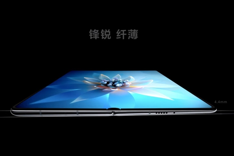El perfil en cuña del Huawei Mate X2