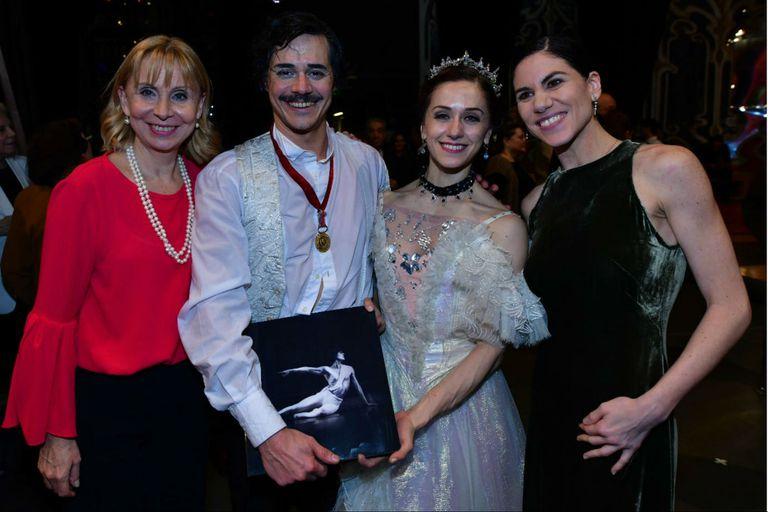 María Victoria Alcaraz, Alejandro Parente, Marianela Nuñez y Paloma Herrera