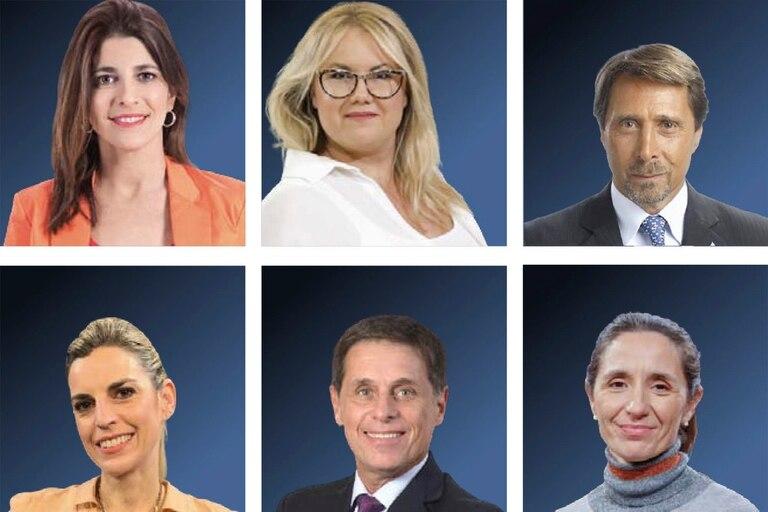 Eleonora Cole, Carola Gil, Eduardo Feinmann, Florencia Donovan, Fernando Carnota e Inés Capdevila.