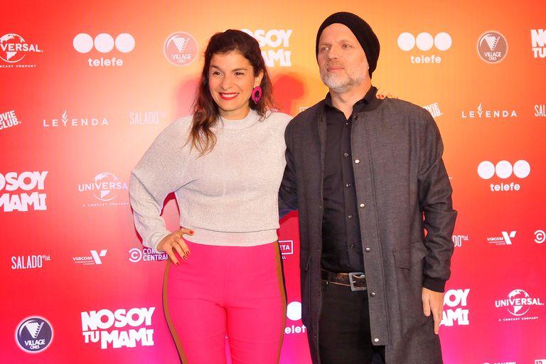 Sebastián Wainraich, otro de los protagonistas del film, junto a su mujer, Dalia Gutmann