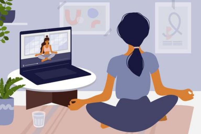 Yoga: cinco beneficios para alivianar el home office