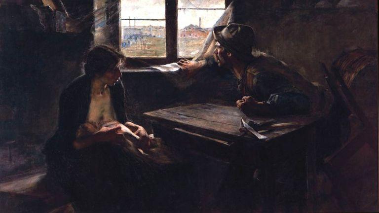 La obra de Ernesto de la Cárcova, que data de 1894