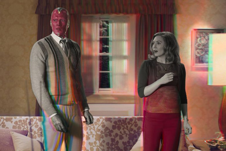 Paul Bettany y Elizabeth Olsen en Wandavision