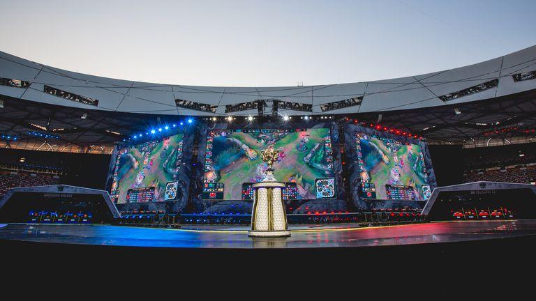 La vista del público que asistió a la final de League Of Legends
