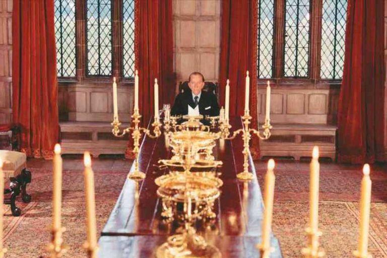 J. Paul Getty en su mansión inglesa de Sutton Place