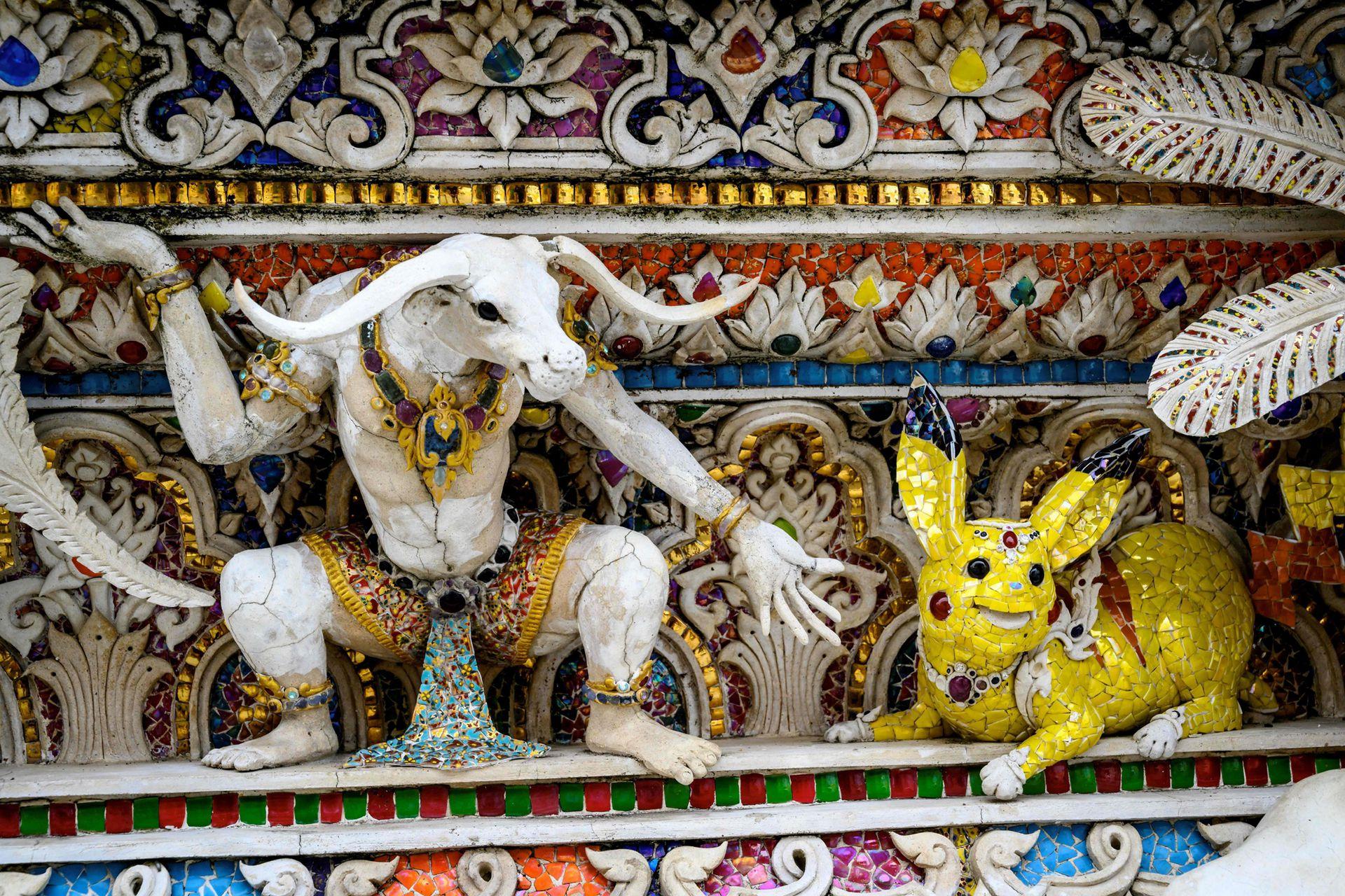 Picachú también tiene su lugar en el templo