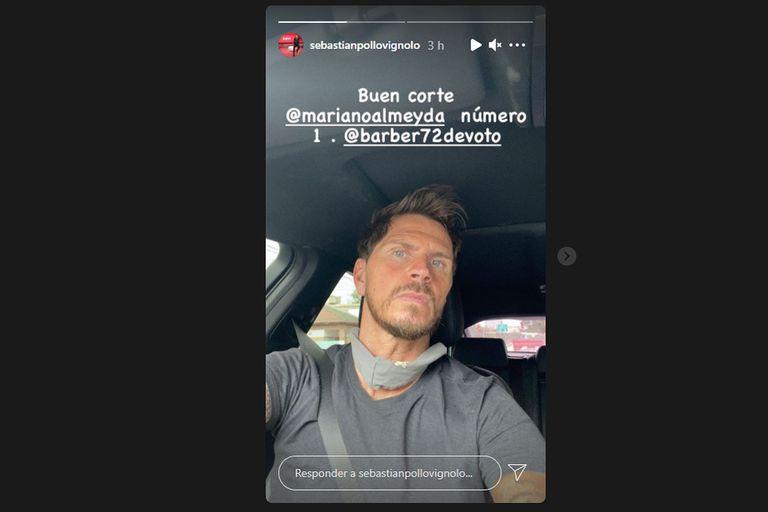 Sebastián Vignolo mostró su nuevo look en las redes sociales