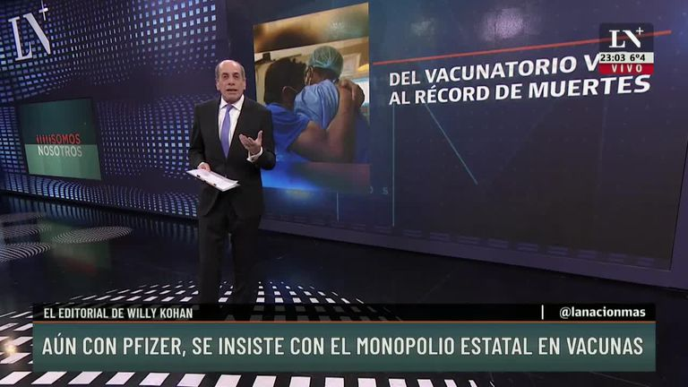Aún con Pfizer, se insiste con el monopolio estatal de las vacunas