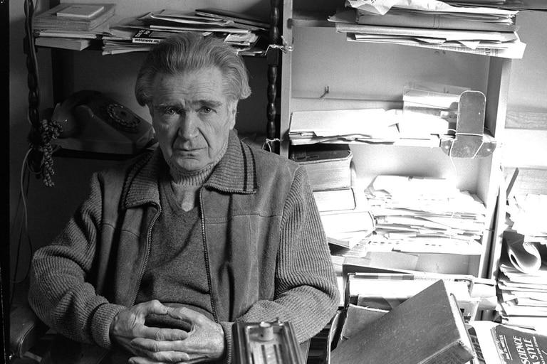El filósofo y escritor Emil Cioran, en una imagen de 1986; hoy se cumplen 110 años de su nacimiento