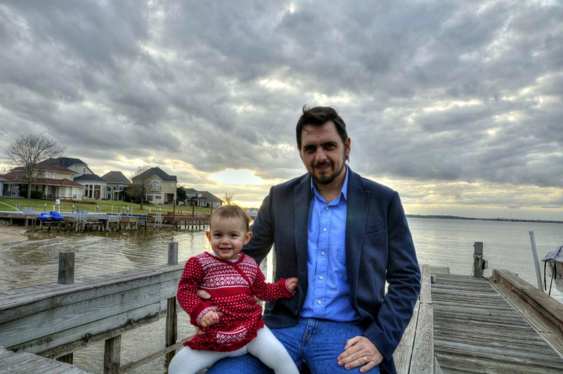 Padre e hija, en los primeros tiempos.