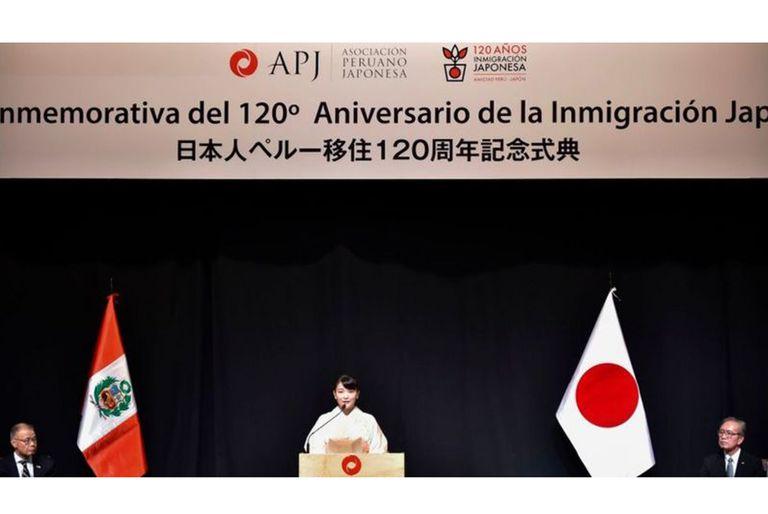 Ceremonia de celebración de 120 años de inmigración japonesa en Perú