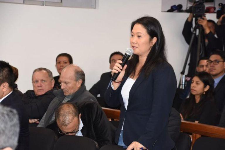 La candidata presidencial Keiko Fujimori