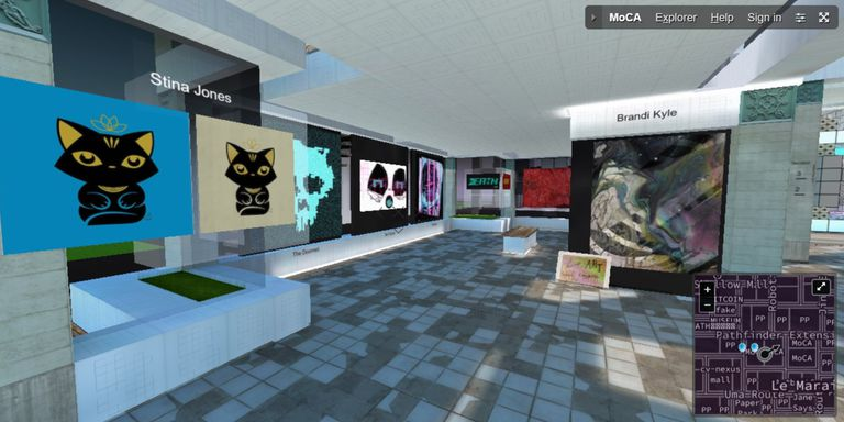 Interior del Museo de Criptoarte nacido en París
