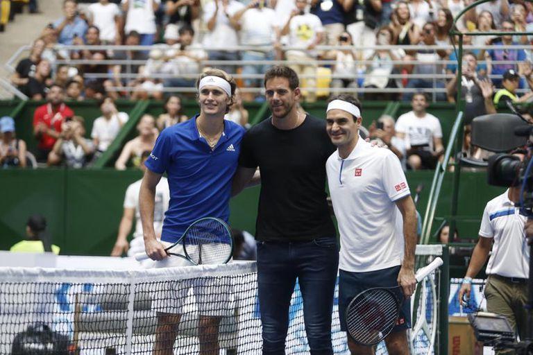 Zverev, Del Potro y Federer