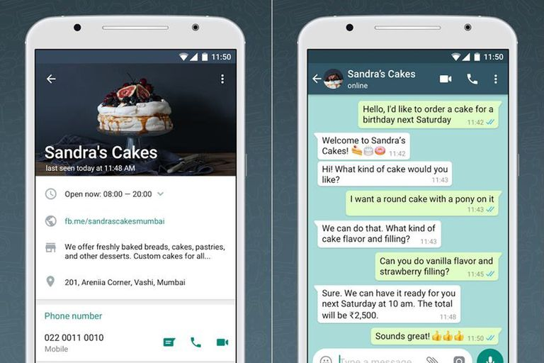 La interfaz de Whatsapp para Empresas es muy parecida a la convencional, y permite que las empresas tengan otro canal de diálogo con sus clientes