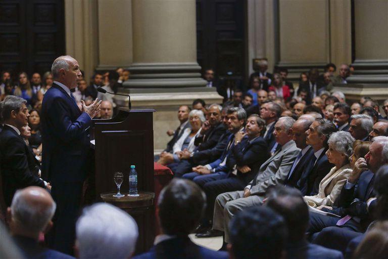 Lorenzetti habló durante 50 minutos en la apertura del año judicial, en el Palacio de Tribunales