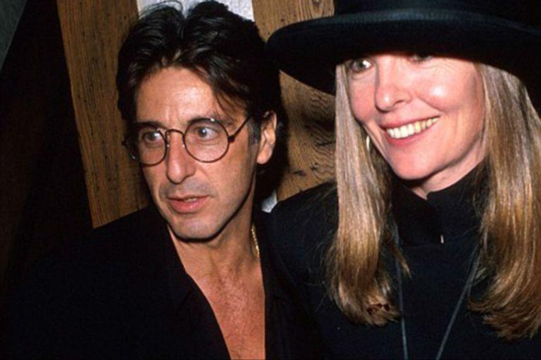 Diane Keaton y Al Pacino, en una de las raras oportunidades en la que fueron fotografiados juntos
