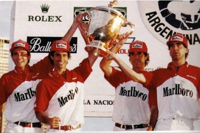 Chapaleufú campeón con los cuatro hermanos Heguy: Bautista, Gonzalo, Horacito y Marcos