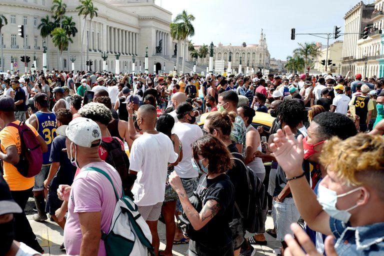 Protestas callejeras contra el gobierno, en La Habana